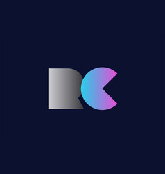 Initial alphabet letter rc r c logo company icon vector