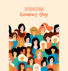 International womens day template vector