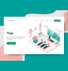landing page template yoga and meditation room vector image