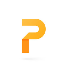 letter p logo on white background vector image
