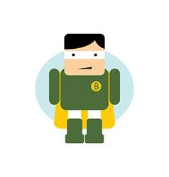 Little superhero flat cartoon vector