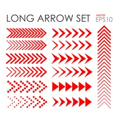 Long arrow icon set vector image