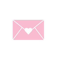 love letter graphic design template isolated vector image