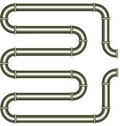 metallic pipe vector image