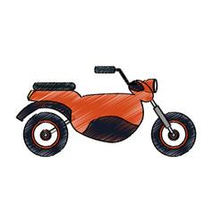 motorcycle vehicle icon vector image