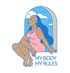 my body rules message vector image