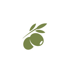 Olives emblem olive oil logo element green olive vector