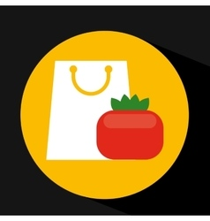 package buying vegetable tomato fresh icon vector image