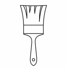Paint brush icon in outline style vector