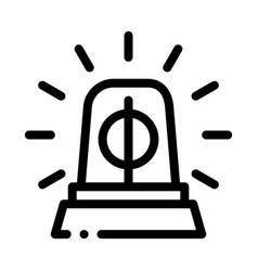 police squad car alarm icon outline vector image