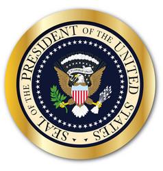 presedent seal button vector image