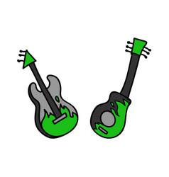 Punk rock guitar set clipart vector