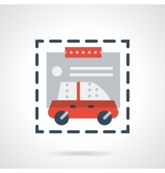 Purchase car flat color design icon vector image