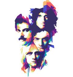 Queen band vector