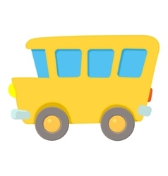 School bus icon cartoon style vector image