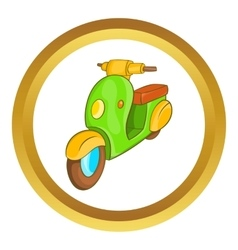 Scooter motorbike icon vector image