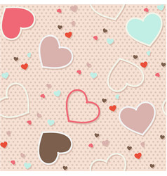 seamless pattern background valentine heart vector image