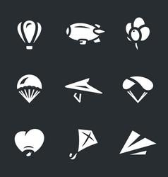 set aeronautics icons vector image