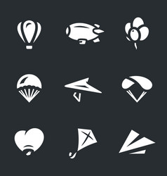 Set of aeronautics icons vector