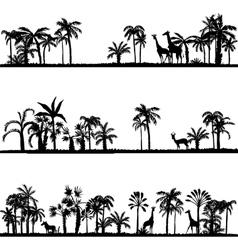 Set of african landscapes vector