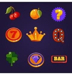 Slot Machine Symbols Set vector