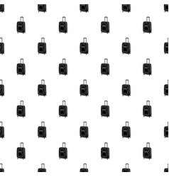 suitcase on wheels icon simple style vector image