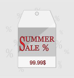 Summer sale grunge label eps vector