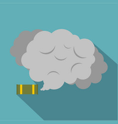 Tear gas canister icon flat style vector