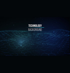 technology background in abstract style vector image