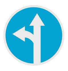 turn arrow icon flat style vector image