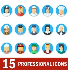 woman professional icons face vector image