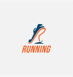 Wordmark logo r for run logo running logo vector