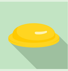 yellow condom icon flat style vector image