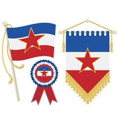 yugoslavia flags vector image