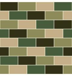 Camouflage Green Brick Wall vector image vector image