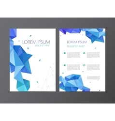flyer blue brochure abstract design 2 vector image vector image