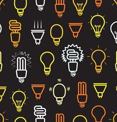 Color light lamps seamless background vector