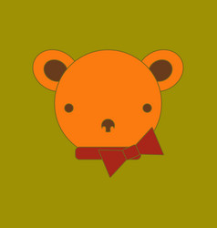 flat icon on background kids toy bear vector image vector image