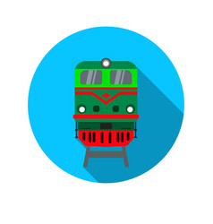icon with the image of the locomotive vector image