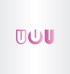 letter u purple logo icon set vector image