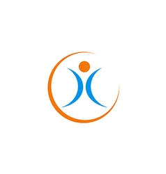people fitness sport abstract logo vector image vector image
