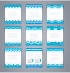 set wavy layout brochures or poster vector image vector image