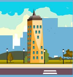 skyscraper office flat business company building vector image