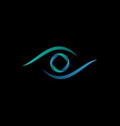 technology orbit eye logo vector image vector image