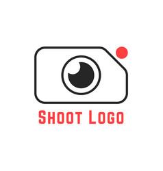 thin line simple shoot logo vector image vector image