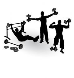 athletics men vector image