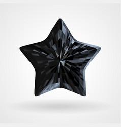black diamond five pointed star triangular vector image vector image