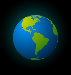 Earth on black vector image