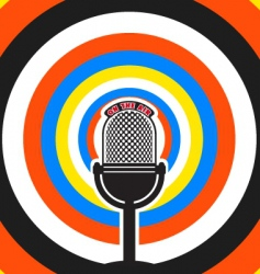 broadcasting poster vector image