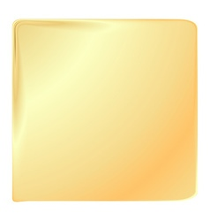 empty golden square template for banners or signs vector image